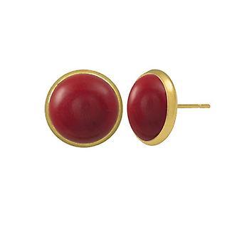 Eeuwige collectie Symphony rood koraal goud Pierced Earrings Stud Earrings