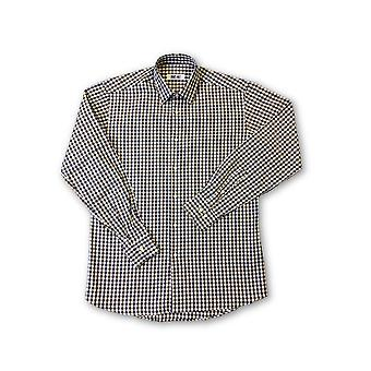 Ingram shirt in brown/blue/white check pattern