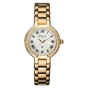 ORPHELIA Ladies Analogue Watch La belle  Gold Stainless steel 153-4705-12