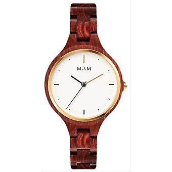 MAM Silt Watch - Wood Brown/White