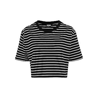 Urban Classics Damen T-Shirt Short Striped Oversized