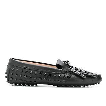 Tod's Xxw00g0z620nb5b999 Women's Black Leather Loafers