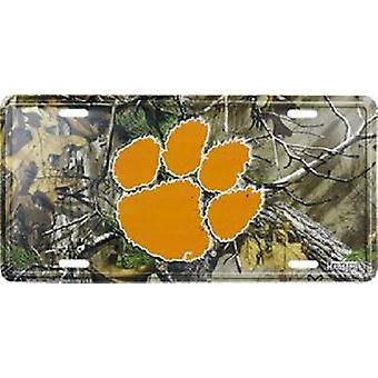 Plaque d'immatriculation Clemson Tigers NCAA Camo