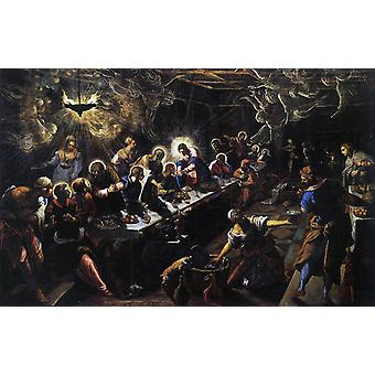 Last Supper,Jacopo Tintoretto,60x38cm