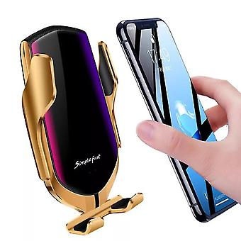 R1 Intelligent Wireless Car Charger-Gold