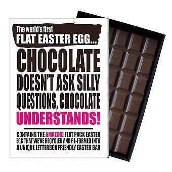 Funny Flat Easter Egg Chocolate Bar Greeting Card Gift Women Girlfriend Wife UK EIYF139