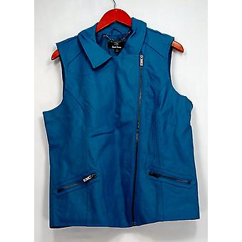Dennis Basso vest faux skinn glidelåslukking m/lommer blå A262922
