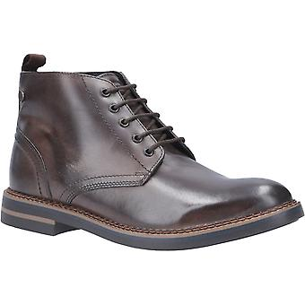 Base London Mens Raynor Burnished Lace Up Boot Cocoa