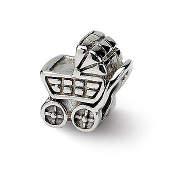 925 Sterling Silver Reflections Baby Carriage Bead Charm Pendant Necklace Jewelry Gifts for Women