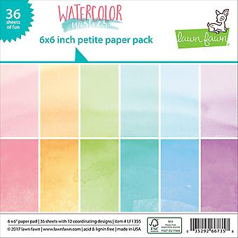 Lawn Fawn Watercolor Wishes 6x6 Inch Paper Pad