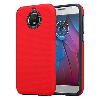 Cadorabo Case for Motorola MOTO G5S Case Cover - Outdoor Phone Case with Extra Grip Anti Slip Surface in Triangle Design made of silicone and plastic - Protective Case Hybrid Hardcase Back Case