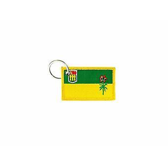 Cle Cles Schlüssel Brode Patch Ecusson Abzeichen Saskatchewan Kanada Flagge Tür