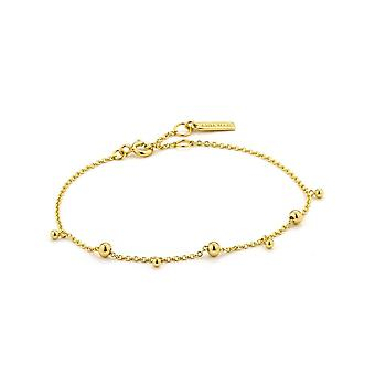 Ania Haie Sterling Silver Shiny Gold Plated Modern Drop Balls Bracelet B002-03G