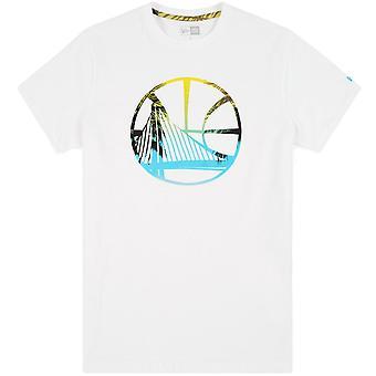 Uusi aika kausi miesten rannikon lämpö Infill GS Warriors Crew Neck Lyhythihainen T-paita