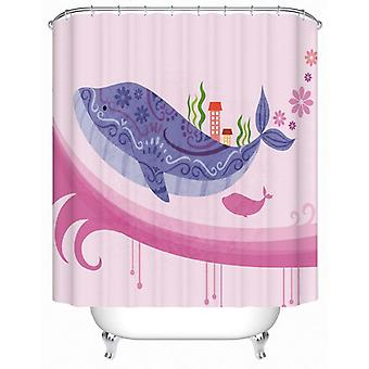 Colorful Whale Shower Curtain