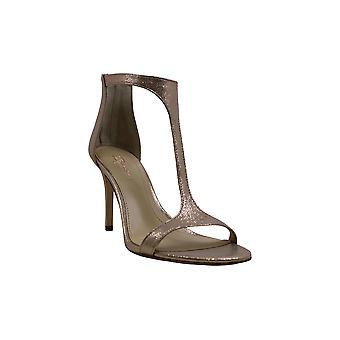 Imagine Vince Camuto Womens Phoebe Leather Open Toe Special Occasion T-Strap ...