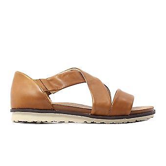 Remonte R2755-22 bruin lederen Womens pull op sandalen