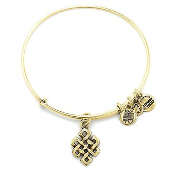 Alex and Ani Endess Knot Gold Bangle A10EB142RG