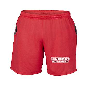 Pantaloncini tuta rosso trk0054 good bed rk