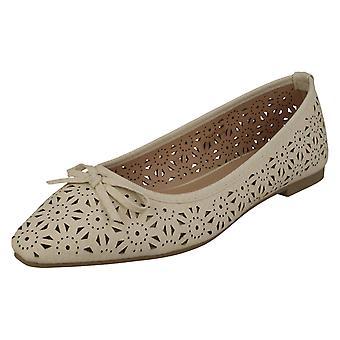 Damen Spot auf Ballerina flache Schuhe F80460