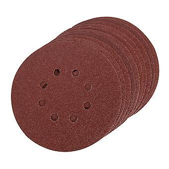 Hook and Loop Sanding Disc 10pk - 150mm 80 Grit