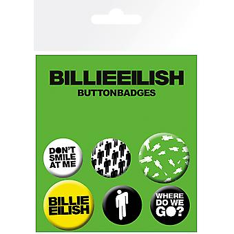 Billie Eilish Stickman Badge Pack