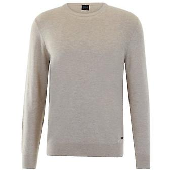 Boss Orange Boss Albonok Fine Knit Crew Neck Jumper Beige 282 50392633