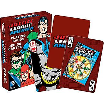 Dc comics retro justice league playing cards