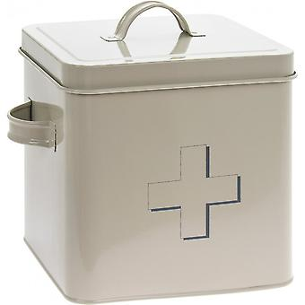 Square First Aid Storage Tin