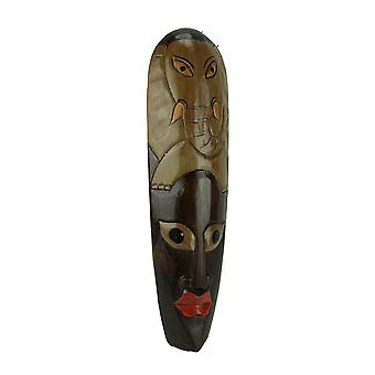 African Jungle Elephant Mask Wall Hanging Africa Decor