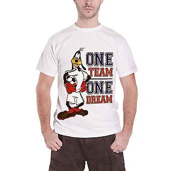 الرسمية الرجال الأبيض Goofy تي تي قميص ديزني واحد فريق واحد حلم شعار جديد