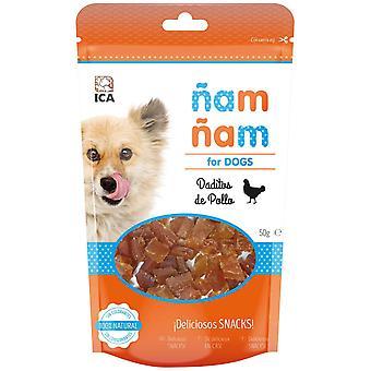 ICA kylling terning Ñam Ñam 50G (hunde, behandler, sej og blødere behandler)