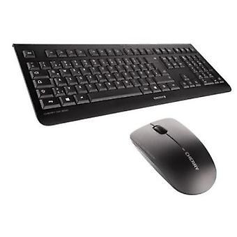 English Keyboard and Wireless Mouse Cherry JD-0700GB-2 Black