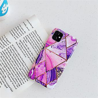 Mobile Schale für iPhone 11 mit rosa Marmormuster