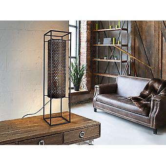 Schuller Vera - Large lantern of 1 light made of punched metal, external finish in black, golden inside.  G plug type (UK). - 493045UK