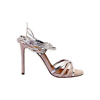 Paris Texas Px205xsaps Women's Silver/pink Leather Sandals