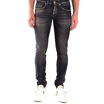 Dondup Ezbc051115 Men's Blue Cotton Jeans