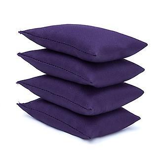 Purple Water Resistant Fabric Garden Game Sports PE Sensorial Malabarismo Sacos de Feijão 4 Pacote