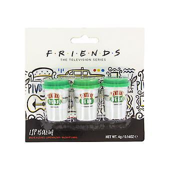 Friends Central Perk Lip Balm Set de 3 Sitcom Memorabilia Flavoured Lip Care