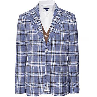 Circolo 1901 Stretch Cotton Pique Check Print Jacket