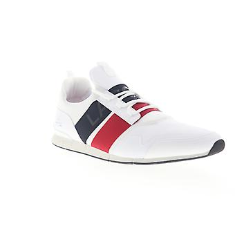 Lacoste Menerva Elite 319 1 US  Mens White Low Top Sneakers Shoes