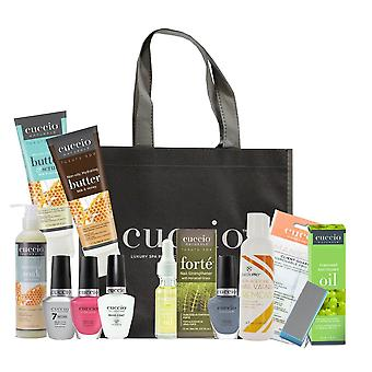 Cuccio Essential Bumper Manicure At Home Kit - Milk & Honey - 15 Piece Starter Kit