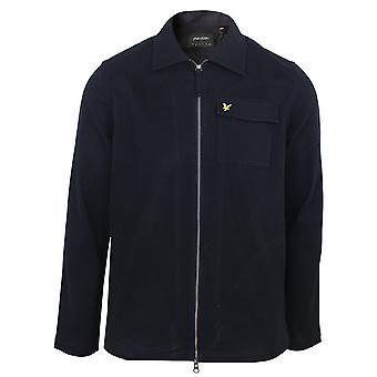 Lyle & scott men's dark navy twill overshirt