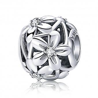Sterling Silver Charm Flourishing Flowers - 5955