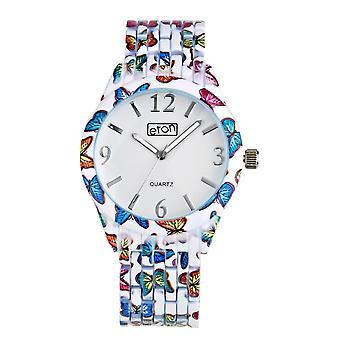 Eton Butterfly Print Bracelet Watch
