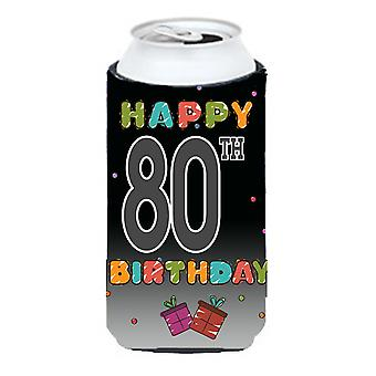 Happy 80th Birthday Tall Boy Beverage Insulator Hugger