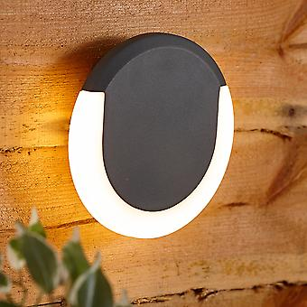 Biard Round Circular Halo Outdoor Garden Wall Light - Integrated LED IP54 A++