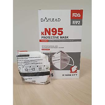 Daylead KN95, FFP2 Protective Mask - Filter PM2.5 harmful substances in the air - 80 pieces