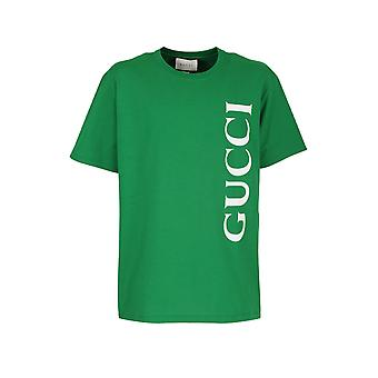 Gucci 565806xjb2v3189 Men's Green Cotton T-shirt