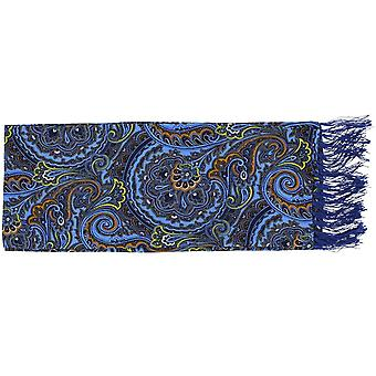 Eingewandt von London hell Paisley Seidentuch - blau